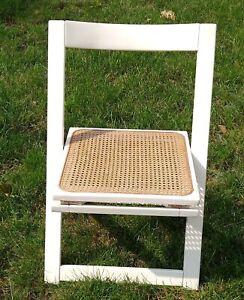 One 1960's Mid Century Modern Cane Folding Chair