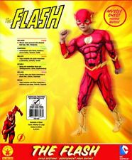 Rubies DC Comics Deluxe Muscle-Chest The Flash Costume, Child Small