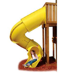 Yellow Tunnel/ Tube Slide for 2.1m Platform, playground,Children,climbing frame
