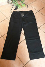 Boris Industries Pantaloni Donna 48 50 (5) NUOVO! NERO STRETCH bottone a pressione Lagenlook