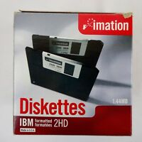 "Imation 3.5"" DS HD 1.44 MB IBM formatted 2HD Diskettes lot of 16"