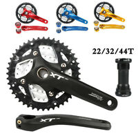 MEIJUN Triple 9/27Speed MTB Bike Crankset 22/32/44T Chainring 170mm Crank BB Set