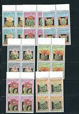 VIETNAM (NORTH) 1987 PLANTS CACTI complete set VF MNH blocks of 4