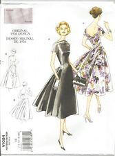 Vogue Sewing Pattern 1084, Retro 1956 Dress and Belt, Sizes 14 - 20, New