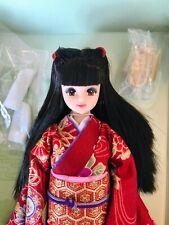 Takara Jenny red Kimono Doll 2000 Black Straight Hair