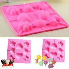 Silicone Heart Cake Cookie Chocolate Mold Lollipop Baking Tray Stick Mould Pop