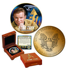 Star Trek 24K Gold Plated Colorized Silver Eagle