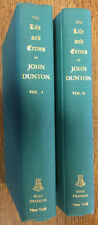 The LIfe and Errors of John Dunton. (1818)  Two volumes. 1969
