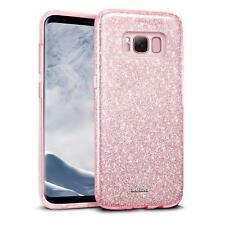 Handy Hülle Samsung Galaxy S8 Plus Schutz Hülle Silikon Cover Glitzer Slim Case