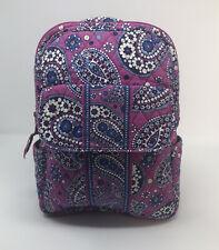 VERA BRADLEY Boysenberry Small Backpack Purple Blue Paisley