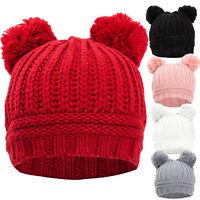 Cappello cappellino donna kawaii berretto tricot pompon ponpon maglia YF-2063