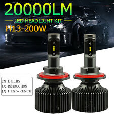 H13 200W Philips LED Headlight Kit Hi/Low 20000LM White Beam Car Bulb Truck Mall