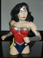 "Wonder Woman Previews Exclusive Vinyl 6"" Figural Bust Coin Bank New DC 2013"