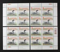 CANADA 1998 #1687, $1 Loon, set of 4 Plate (C) Blocks Mint NH