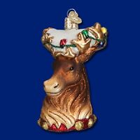 """Reindeer"" (12417) Old World Christmas Glass Ornament - Free Gift Box!"