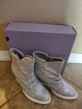 Jennifer Lopez Frannie Silver Wedge Ankle Bootie Boot Women's Size 7.5