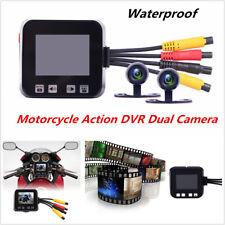 Motorcycle Action Dual Camera DVR HD Video Recorder DashCam Camcorder Waterproof