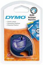 Cinta Dymo Letratag Plastico Negro/transparente 12mmx4m.