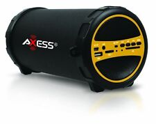 Axess SPBT1031 Portable Bluetooth Speaker with SD Card and USB Input Yellow