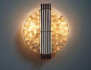 Wandlampe Capiz-Muscheln mit Bambusstäben / Morgenland Möbel & Accessoires