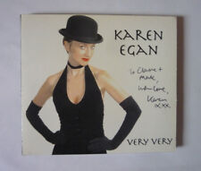 KAREN EGAN VERY VERY 2006 CD IN CARDBOARD SLEEVE - SIGNED - GOOD CONDITION