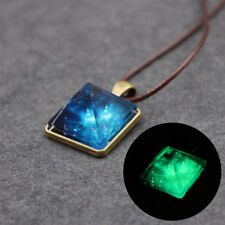Geometric Crystal  Pendant Magic Necklace Glowing  Triangle  Pyramid  Necklace