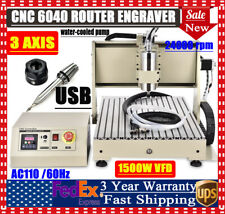 Usb 3 Axis 6040z Cnc Router Engraver 3d Cutting Drilling Milling Machine 1500w