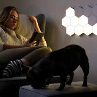 LED Quantum Wall Lamp DIY Hexagonal Modular Night Light Touch Sensitive Lighting