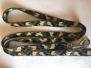 Combat camouflage dog lead khaki  approx 1.3m long 15mm wide