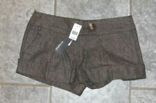 Size 10 Brown Tweed Turn Up Shorts - Atmosphere Brand New With Tags