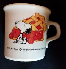 Vtg 1958 Original Snoopy Cherry Pie Coffee Mug Peanuts Schultz Taylor Int'l