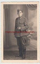 (F10721) Orig. Foto Porträt junger deutscher Soldat 1940er