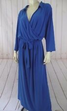 NY Collection Woman Dress 3X Royal Blue Poly Spandex Stretch Knit Pullover New