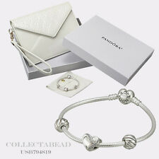 Authentic Pandora Silver Filled With Love 7.5 Bracelet Gift Set USB794819 LAST 1