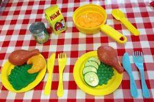 Vtg Playskool Play Food Fun Kids Kitchen Cooking Groceries Lot