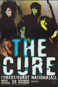 The Cure Group Photo in Forest/Vorst National in Belgium Concert Poster  12x18