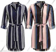 Long Sleeve Shirt Dresses for Women with Blouson