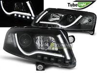 Headlights LED LTI LIGHT TUBE Inside for AUDI A6 4F C6 04-08 Black LHD LPAU96-ED