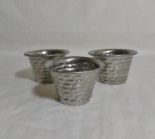 Set of 3 Brickhouse Stainless Steel 3 oz. Cups for Condiments,Dressings, Sauces