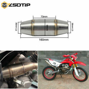 36mm I.D Universal Exhaust Pipe Muffler Expansion DB Killer Chamber Motorcycle