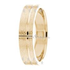 18K SOLID YELLOW GOLD MENS 6MM WEDDING RINGS BANDS MAN WEDDING BAND RING COMFORT