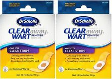 Dr. Scholls Clear Away One Step Wart Remover clear strips 14ct ( 2 pack )