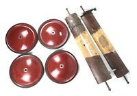 Set of 4 Official Soap Box Derby Car Racing Wheels VTG Parts Race Lot With Axles