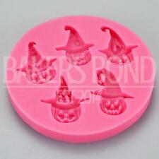 Halloween Multi Pumpkins Themed Silicone Baking Mould Hat Icing Topper Lanterns