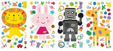 92 New LAZOO WALL DECALS Animals & Robot Stickers Bedroom Decor Gifts for Kids