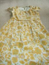 vintage retro Boden shift dress capped sleeves yellow floral 60s look 12R