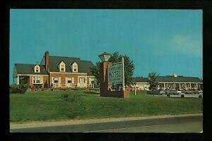 Virginia VA postcard Winchester, Copper Lamp Motel hotel chrome