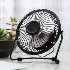 "4""USB Desk Table Fan Mini Personal Small Air Circulator Quiet Portable Retro Fan"