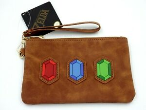 Nintendo Official Zelda-Little Rupees Bag Brown Pouch Bag 18x12cm Zelda New
