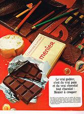 PUBLICITE ADVERTISING  1969   MENIER  chocolat